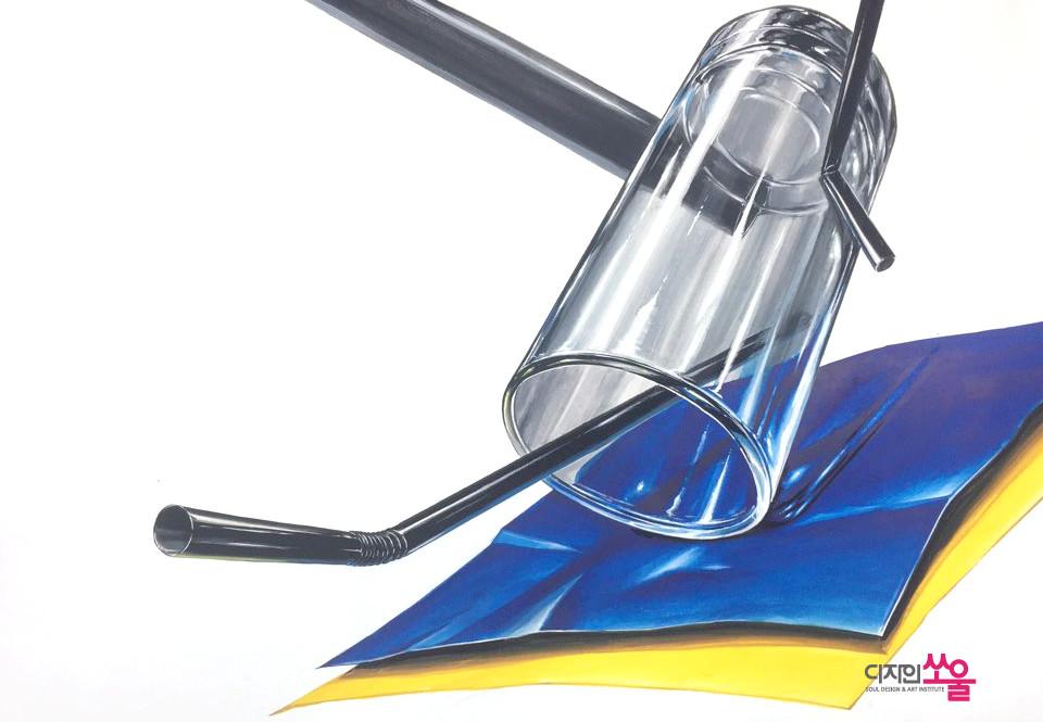 기초디자인 투명 유리재질