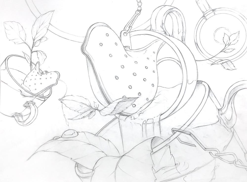 스케치(아이디어와 화면 구성)