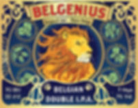 Belgenius Belgian Double IPA front label