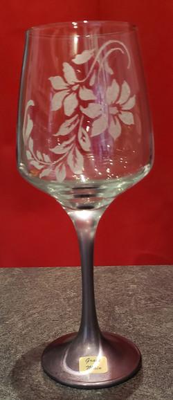verre à vin déco floral