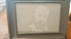gravure enfant sur cadre