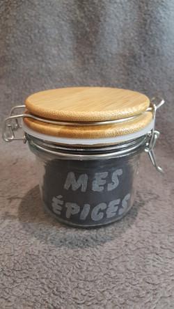 boite a épices couvercle bois