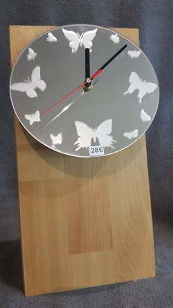 Horloge Papillons
