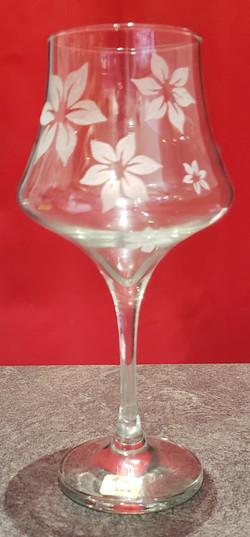 verre à vin déco fleurs