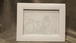 gravure famille sur cadre