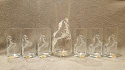 service a limonade gravure cheval