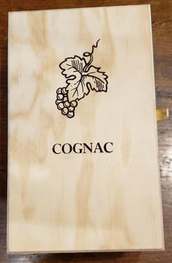 coffret bois pour carafe à Cognac