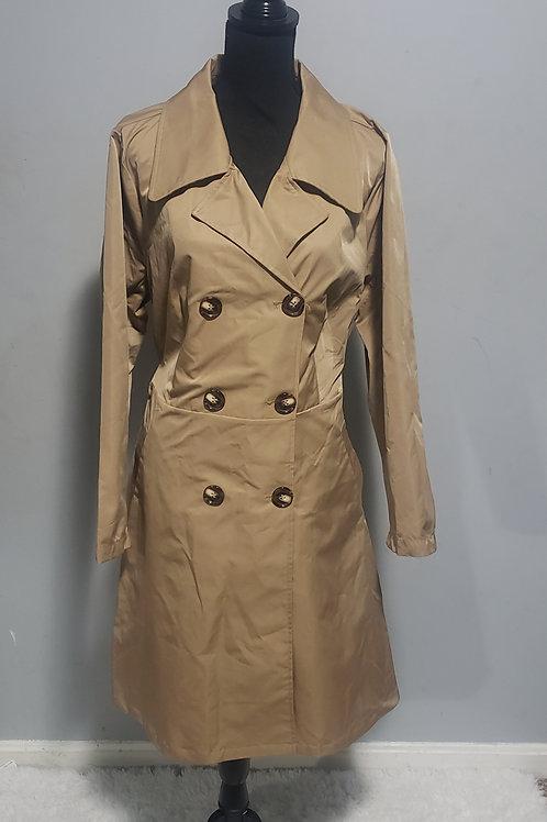 Khaki Doublebreast Trench Coat w/Belt