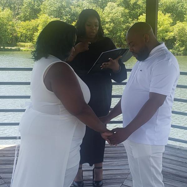 Wedding Ceremony at Lake Artemesia