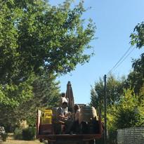 trajet en tracteur