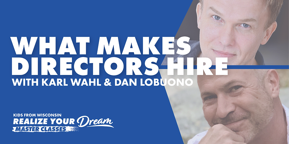 Virtual Master Class - What Makes Directors Hire