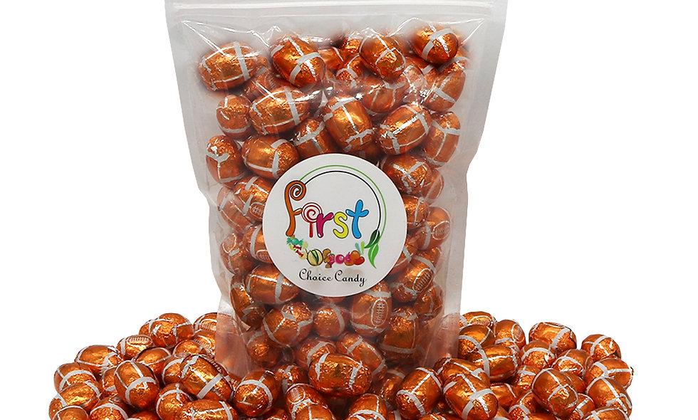 Milk Chocolate Foil Wrapped Balls (Footballs)