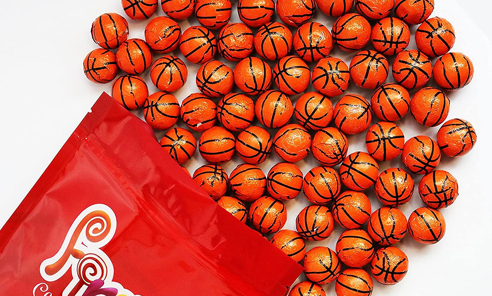 Milk Chocolate Foil Wrapped Balls (Basketballs)