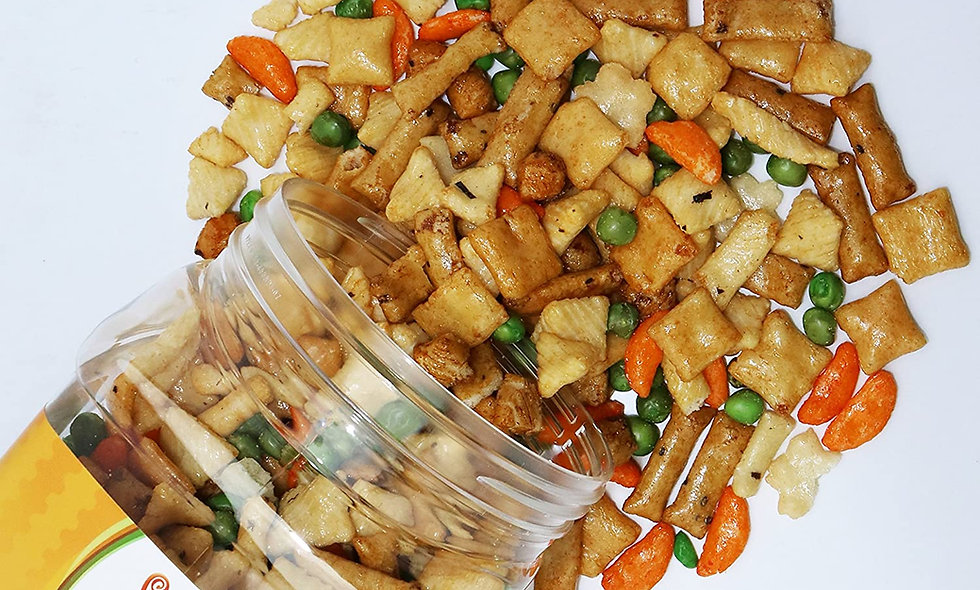 Oriental Rice Crackers (21 oz) in Reusable Food Container