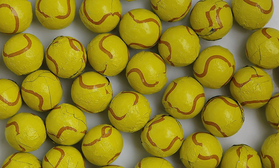 Milk Chocolate Foil Wrapped Balls (Tennis)