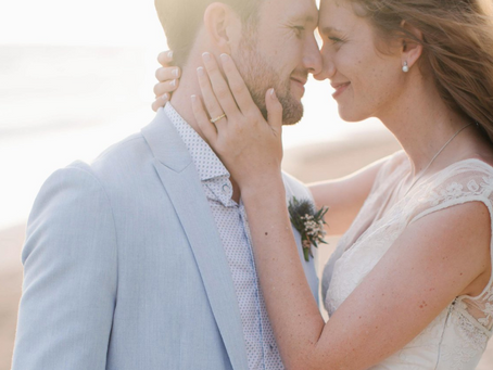 Relaxing Sand and Beach Wedding