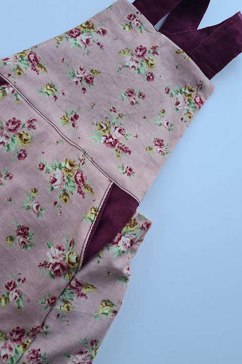 Floral Corduroy  pinafore