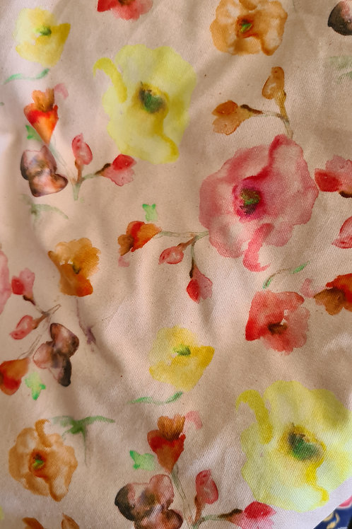 Baby/childs pink watercolour floral shorts