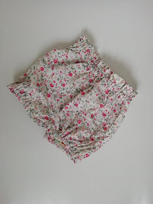floral paperbag waist shorts