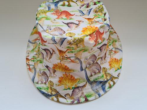 Reversible dinosaur childs bucket hat