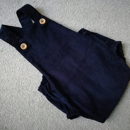 Child's Navy blue corduroy romper