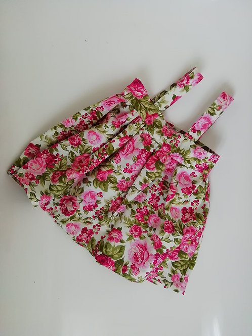 Pinafore floral cotton dress