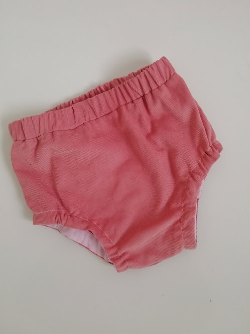 Pink corduroy bloomers, with or without ruffles
