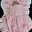 Thumbnail: Pink gingham Frilly seersucker cotton romper