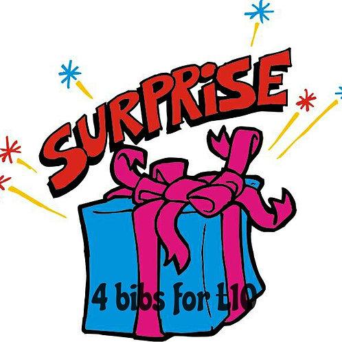 4 surprise bibs