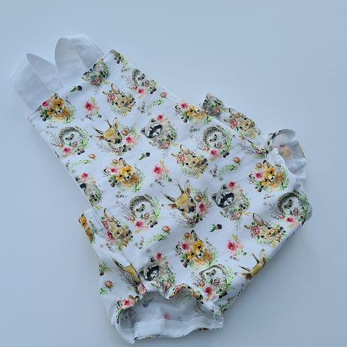 baby/child's woodland summer cotton romper