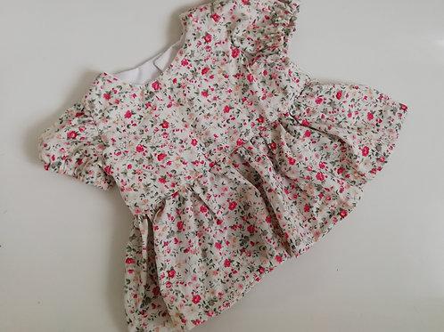Handmade ditsy floral peplum top or dress