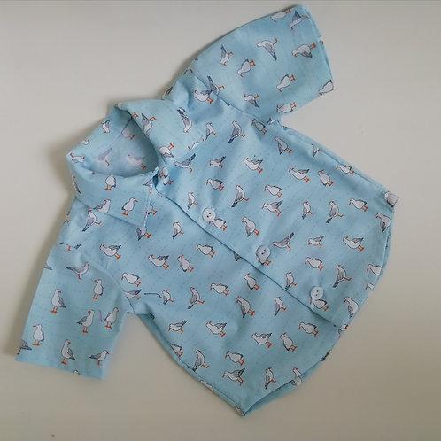 Blue Seagull short or long sleeve Shirt