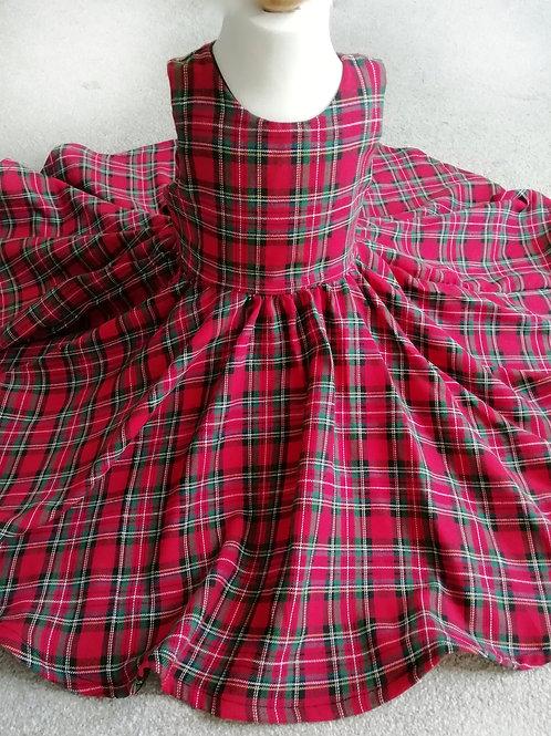 Handmade red royal stewart tartan party dress Dress