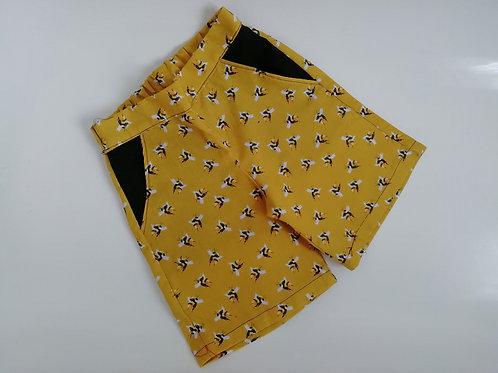 Mustard bee long shorts