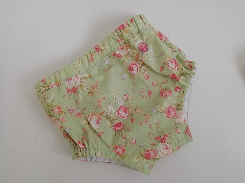 Pre made floral nappy cover 6-9 months