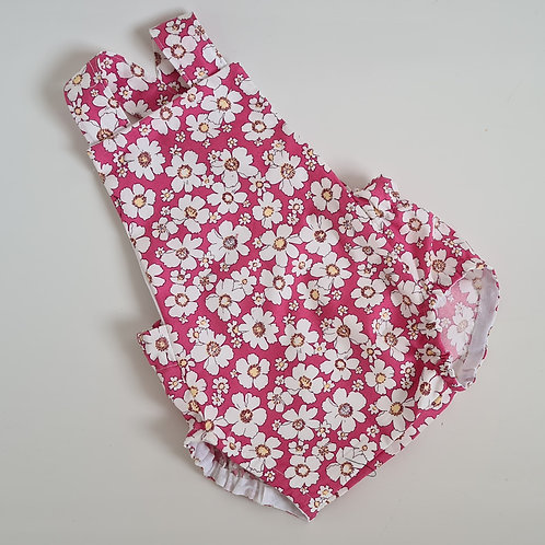 Pre made baby floral summer cotton romper  3-6 months