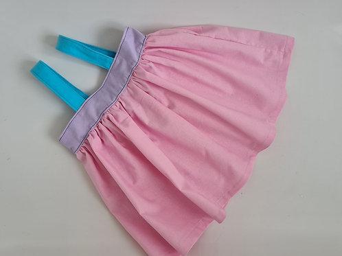 Multicoloured Pinafore cotton dress