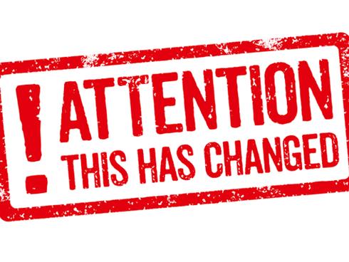 Notice - Field Change 6/27