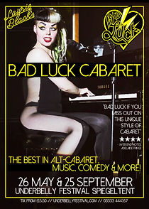 Laurie Black Bad Luck Cabaret London Stereo Juggernaut