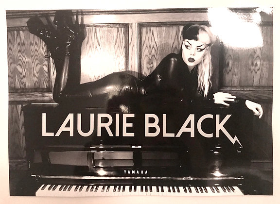 Glossy Laurie Black Poster
