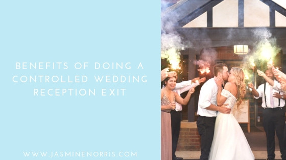 Benefits of Doing A Controlled Wedding Reception Exit Indiana Wedding Photographer