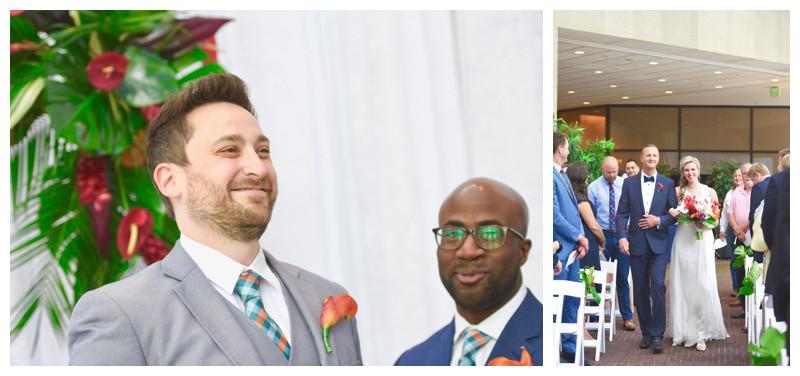 Indianapolis Indiana Sahms Atrium Wedding Photographer Photography