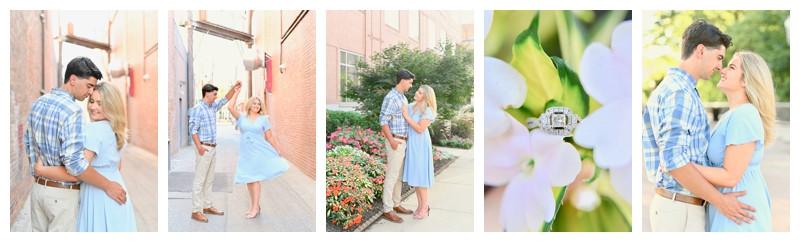 Downtown Lafayette Indiana Engagement: Mikayla & Josh