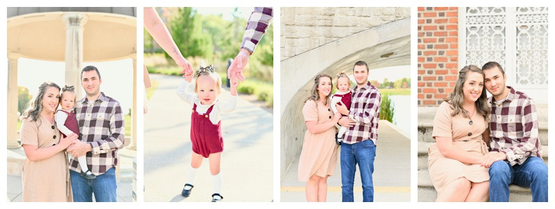 Coxhall Gardens Carmel Indiana Anniversary and Family Session: Jessica & Kyle