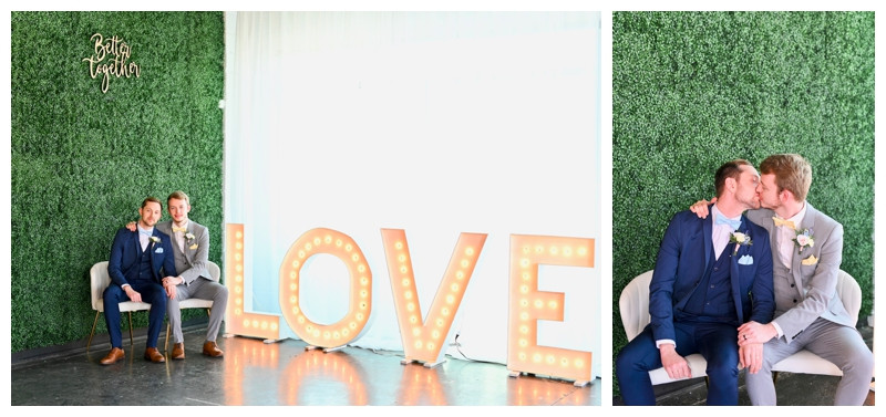 PUBLISHED: Loverly- Colorful Pastel Rainbow Same-Sex Wedding in Indianapolis
