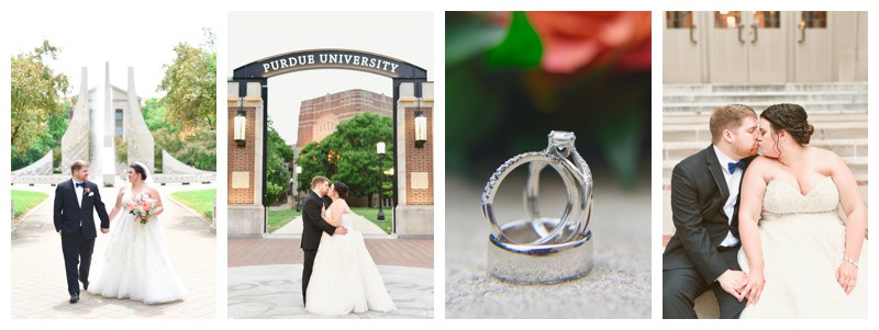 Purdue Memorial Union Wedding West Lafayette Indiana Photographer Photography