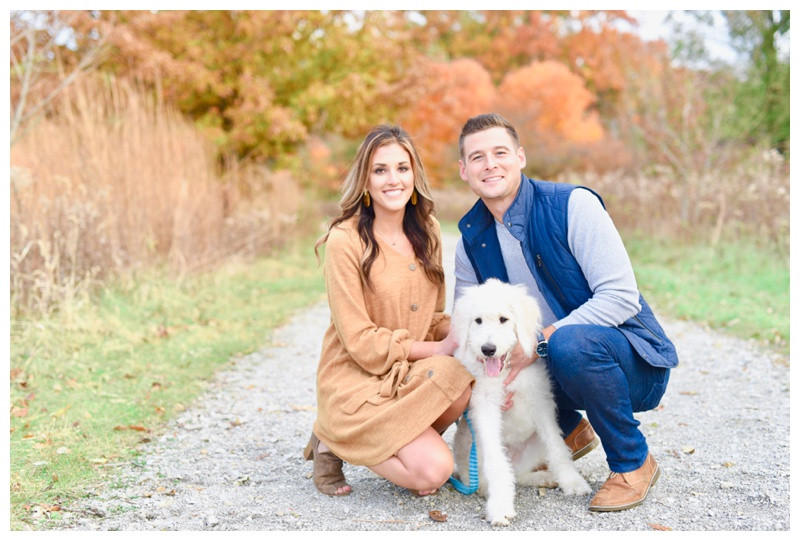 Carmel Indiana engagement wedding anniversary photographer photography indianapolis puppy