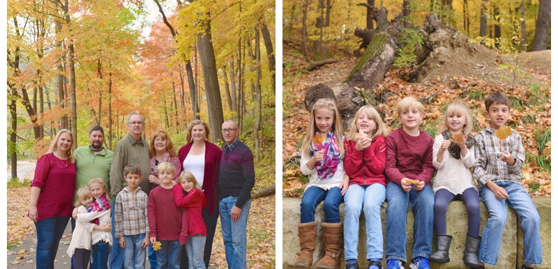 Happy Hollow Park Lafayette Indiana Family Portraits: Yother Family