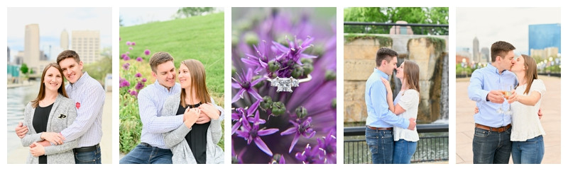 Downtown Indianapolis Canal and Skyline Engagement: Adam & Kate