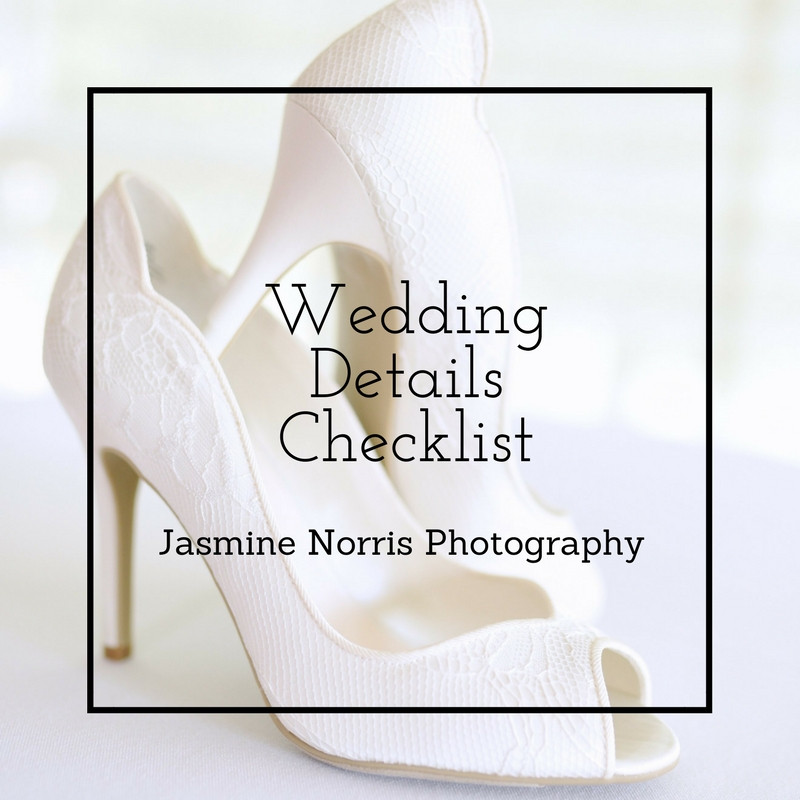 Wedding Details Checklist Indiana Wedding Photographer Photography Lafayette Indianapolis